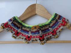 Beaded Collar/ Collar Statement/ Design Collar/ Multicolor Collar/ Crochet Jewelry/Bohemian Accessory / Gift For Mother/ Statement Necklace
