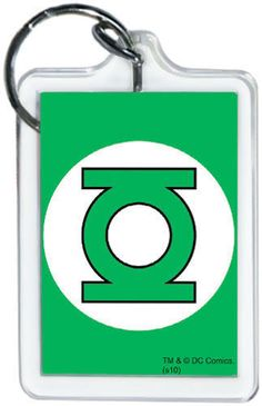"DC Comics Green Lantern Logo 3"""" x 2"""" Officially Licensed Lucite Double Sided Key"