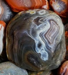 Treasure from Lonesome Creek. Minerals And Gemstones, Crystals Minerals, Rocks And Minerals, Natural Gemstones, Gem Stones, Stones And Crystals, Drake Rock, Lake Superior Agates, Rock Hunting