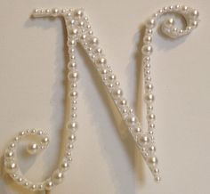 Pearl Monogram Cake Topper  White or Ivory by LLBridalDesigns, $28.50
