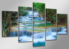 Unframed Waterfall Landscape Photo Wall Art Home Living Decor Bedroom Canvas Print Modern Design for Room Decoration Christmas Murals Without Frames Canvas Poster, Canvas Wall Art, Poster Prints, Canvas Prints, Art Print, Canvas Paintings, Fall Pictures, Print Pictures, Art Mural Photo