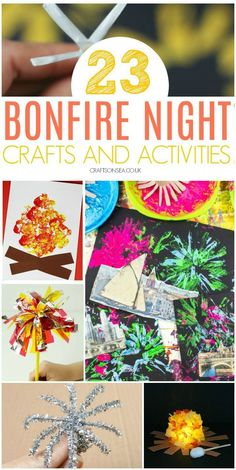 Bonfire Night Crafts and Activities for Kids These fun Bonfire Night crafts and activities for kids are the perfect way to inspire young imaginations! Awesome hands on art projects, sensory play + food Bonfire Night Craf Easy Arts And Crafts, Easy Crafts For Kids, Craft Activities For Kids, Toddler Crafts, Diy For Kids, Fun Crafts, Thanksgiving Activities, Activity Ideas, Winter Activities