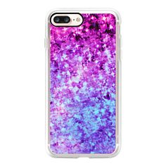 RADIANT ORCHID GALAXY - Cosmic Ombre Abstract Colorful Sparkle Purple... ($35) ❤ liked on Polyvore featuring accessories, tech accessories, iphone case, purple iphone case, iphone cover case, sparkly iphone cases, apple iphone case and galaxy iphone case