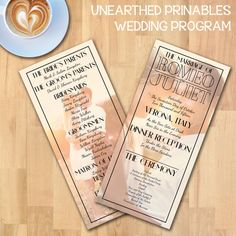 1920s Black Classic Fade Simple Wedding Program Suite | Instant Download | Photo Wedding Program | PSD File | Printable