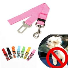 Pet Leso Adjustable Puppy Car Safety Belt For Dogs Vehicle Seat Belt  Black ** You can find out more details at the link of the image.