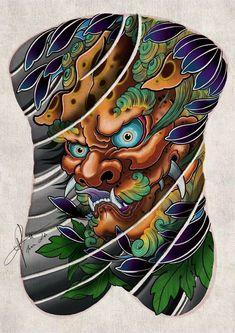 Japanese Leg Tattoo, Japanese Legs, Japanese Tattoo Designs, Asian Tattoos, Leg Tattoos, Bio Organic Tattoo, Fu Dog, Japan Tattoo, Back Pieces