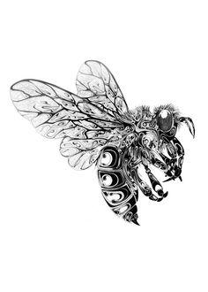 Bee | A2 | Si Scott Artwork