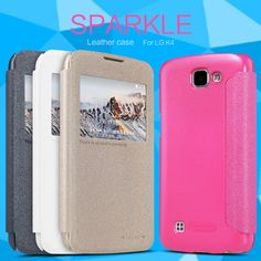New Arrival Nillkin For LG K4 Lte K120e K130e Case Hight Quality Leather Phone Case Open Window Cover For LG K4 #Affiliate