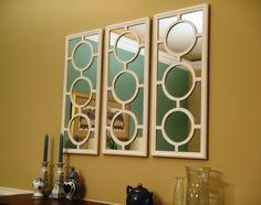 3 Honest Cool Tips: Oval Wall Mirror Art Deco round wall mirror house. Wall Mirrors Entryway, Small Wall Mirrors, Rustic Wall Mirrors, Living Room Mirrors, Home Decor Mirrors, Round Wall Mirror, Diy Mirror, Mirror Set, Decorative Mirrors