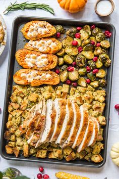 Sheet Pan Thanksgiving Dinner for 2