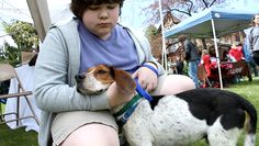 Pet Adoption Fair at the Emma Clark Library.  April 26, 2014.