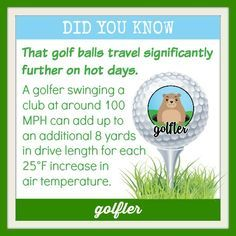 This is a fun fact and a good excuse now that the days are getting cooler! #Golf #GolfTrivia #GolfFact #GolfScience #GolfPhysics #OrMaybeIt'sYourClubs #Shop2ndSwingGolf