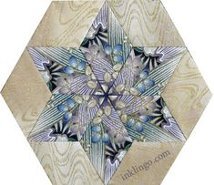 ~ Inklingo Fussy Cut Star (Kaleidoscope or One Block Wonder)