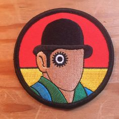 A Clockwork Orange Stanley Kubrick ultraviolence embroidered patch 3""
