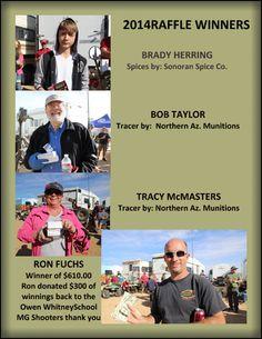 Big Sandy Raffle Winners