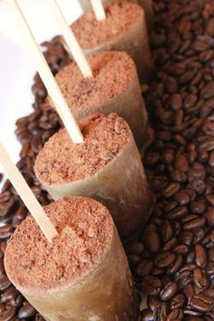 Coffee-cardamom Popsicles...these pops remind me of the Turkish latte offered at Kean Coffee. I'll bet these pops are just as delicious.