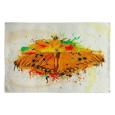 Msimioni Orange Butterfly Woven Rug #butterfly #livingroom