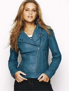 I'd like to collect different colors of  leather jackets...I love this color too Linz!