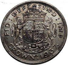 1937 UK Great Britain United Kingdom KING GEORGE VI Silver CROWN Coin i60628
