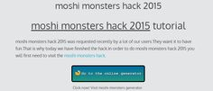 moshi monsters hack 2015 - online generator cheats