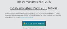 moshi monsters hack 2015 - online generator cheats