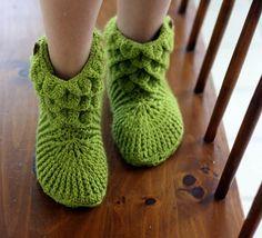 CROCHET PATTERN: Crocodile Stitch Boots Adult por bonitapatterns