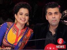 The battle is on: Kangana Ranaut reacts to Karan Johar's 'victim card' allegations Karan Johar, Salwar Kameez, Bubble, Bollywood, Saree, Running, Kurtis, Hilarious, Outfits