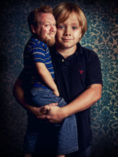 Photoshopped Picture of Andrew and his son. (Love the facial expressions and art direction)