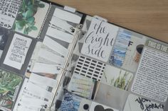 Creative Documentation | Divided Pocket Page Method | Trisha Harrison | Hand-painted white stripes on transparent album divider. Her work has a strong Scandinavian vibe. I like.