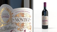 Montico, The Italian Zinfandel di Puglia — Grid AS, Oslo, Norway / Hand-lettering by Signfidelity Clever Packaging, Innovative Packaging, Packaging Design, Zinfandel Wine, Creativity And Innovation, Wine And Beer, Hang Tags, Label Design, Service Design
