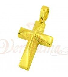 Σταυρός ανδρικός χρυσός Κ14 ST12_009 Symbols, Letters, Letter, Lettering, Glyphs, Calligraphy, Icons