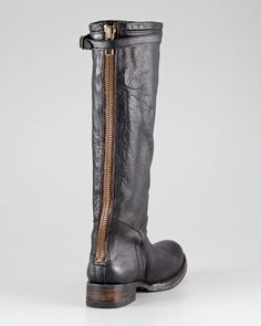 Ash Distressed Leather Boot - Neiman Marcus