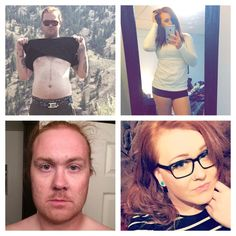 Two years ago and today. 27yo, 2 years HRT and down 25(ish) lbs.