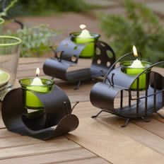These little guys are so cute! Great for a patio table!