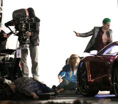 Better Look At Jared Leto's 'Joker' & Margot Robbie's 'Harley Quinn' In SUICIDE SQUAD Set Pics