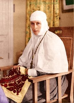HIH Grand Duchess Elisabeth Feodorovna (1 November 1864 – 5/18 July 1918) nee Elisabeth Alexandra Louise Alice, sister of the Empress Alexandra Feodorovna, became a nun after the death of her husband, Grand Duke Sergei in 1905. After a long career of caring for the poor, she was murdered in Alapaevsk, Russia, along with Grand Duke Sergei Mikhailovich, Prince Vladimir Paley and Sister Varvara Yakovleva. She was 53.
