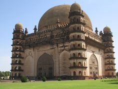 Gol Gumbaz, the mausoleum of Muhammad Adil Shah (AD 1626 located in Bijapur, District Bijapur, Karnataka State is an important monument of Indo-Islamic architecture aptly known for its amazing dimensions and unique acoustic features (Deepika) Islamic Architecture, Art And Architecture, Palaces, Gol Gumbaz, Empire Moghol, Mecca Masjid, History Of India, Ancient History, Voyage