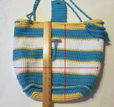 How to #sew a lining for a #crochet bag! From pattern-paradise.com