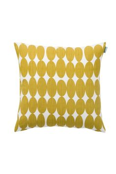 Buy Spira of Sweden Vilma Mustard Scandinavian Cushion - Spira's Vilma mustard cushion features gorgeous yellow ovals, warm in colour and strong in design. Scandinavian Cushions, Scandinavian Modern, Geometric Cushions, Geometric Pillow, Teal Yellow Grey, Mustard Yellow, Couch Cushions, Throw Pillows, Mustard Cushions