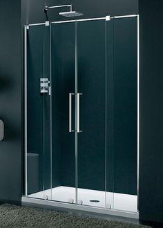 shower doors glass frameless sliding | ... of Lakes Italia Genzano Frameless Double Sliding Shower Door 1600mm