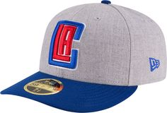 lowest price b421b c3ac4 New Era Men s Los Angeles Clippers 59Fifty Low Crown Grey Fitted Hat