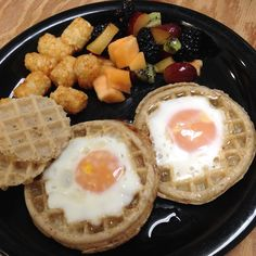 Eggs in a Basket Waffle Style   Small Town Living in Nevada