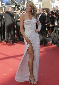 heidi klum white studded gown Cannes 2013 - I kind of like this