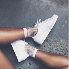Fishnet Socks in White