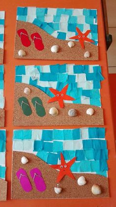 beach crafts for kids to make Beach Crafts For Kids, Toddler Crafts, Art For Kids, Sea Crafts, Fish Crafts, Paper Crafts, Daycare Crafts, Classroom Crafts, Camping Crafts