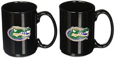 NCAA Two Piece Black Ceramic Mug Set  http://allstarsportsfan.com/product/ncaa-two-piece-black-ceramic-mug-set/?attribute_pa_teamname=florida-gators  They are decorated with a hand-crafted Team Logo. Perfect for the sports fan who wants one mug for the home and one for the office. Handcrafted  high-quality metal logo