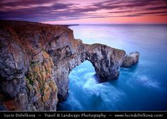 """UK - Wales - Pembrokeshire Coast National Park - Bosherston - Spectacular Green Bridge of Wales - © Lucie Debelkova Photography 