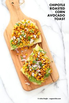 Chipotle Roasted Corn Avocado Toast. Summer corn roasted with Smoked Paprika…