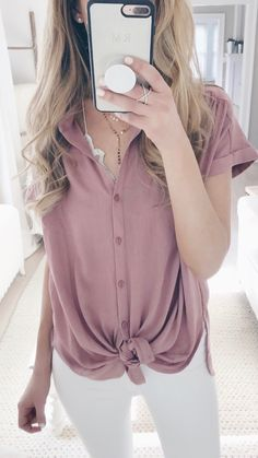 tie from pink top perfect for spring!