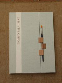 a closing for a book and coincident a holder for a paintbrush or maybe pen - Ejemplar único para Irene.